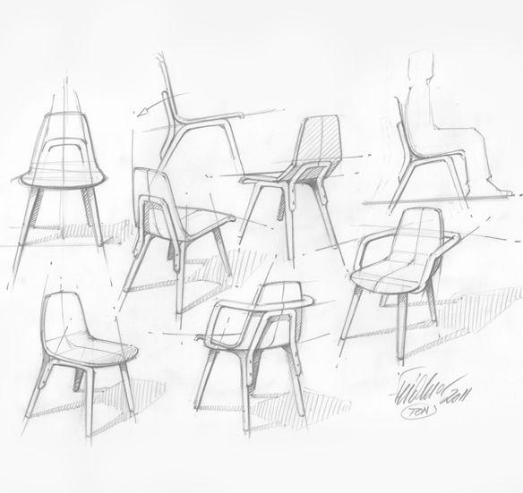 Thomas Feichtner Tram Chair Furniture Design Sketches Furniture Sketch Drawing Furniture