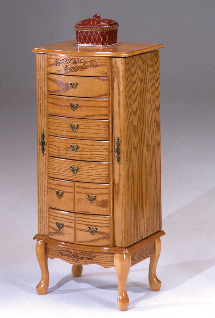 Large Oak Jewelry Armoire Bernards Home Gallery Stores