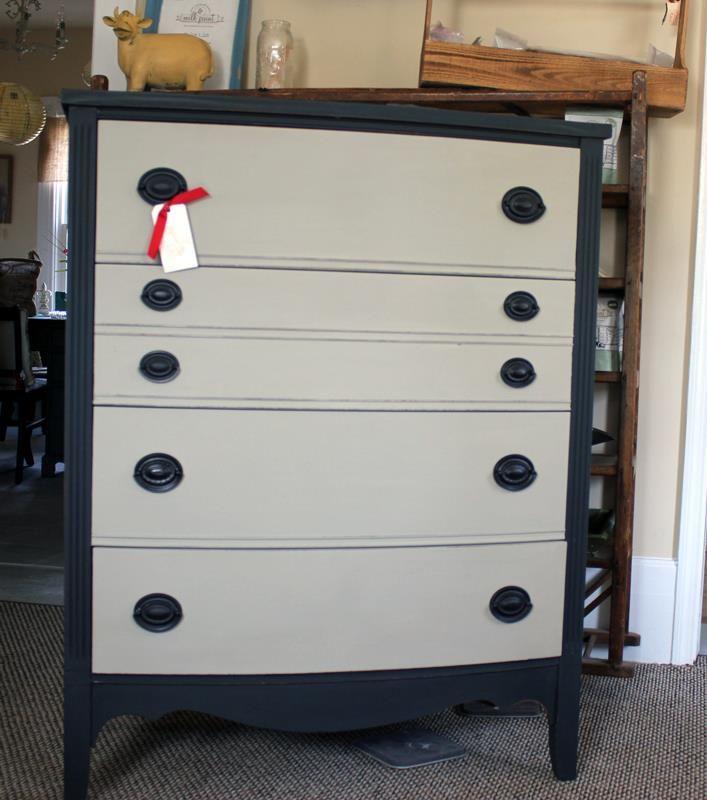 his Vintage dresser makeover using Maison Blanche