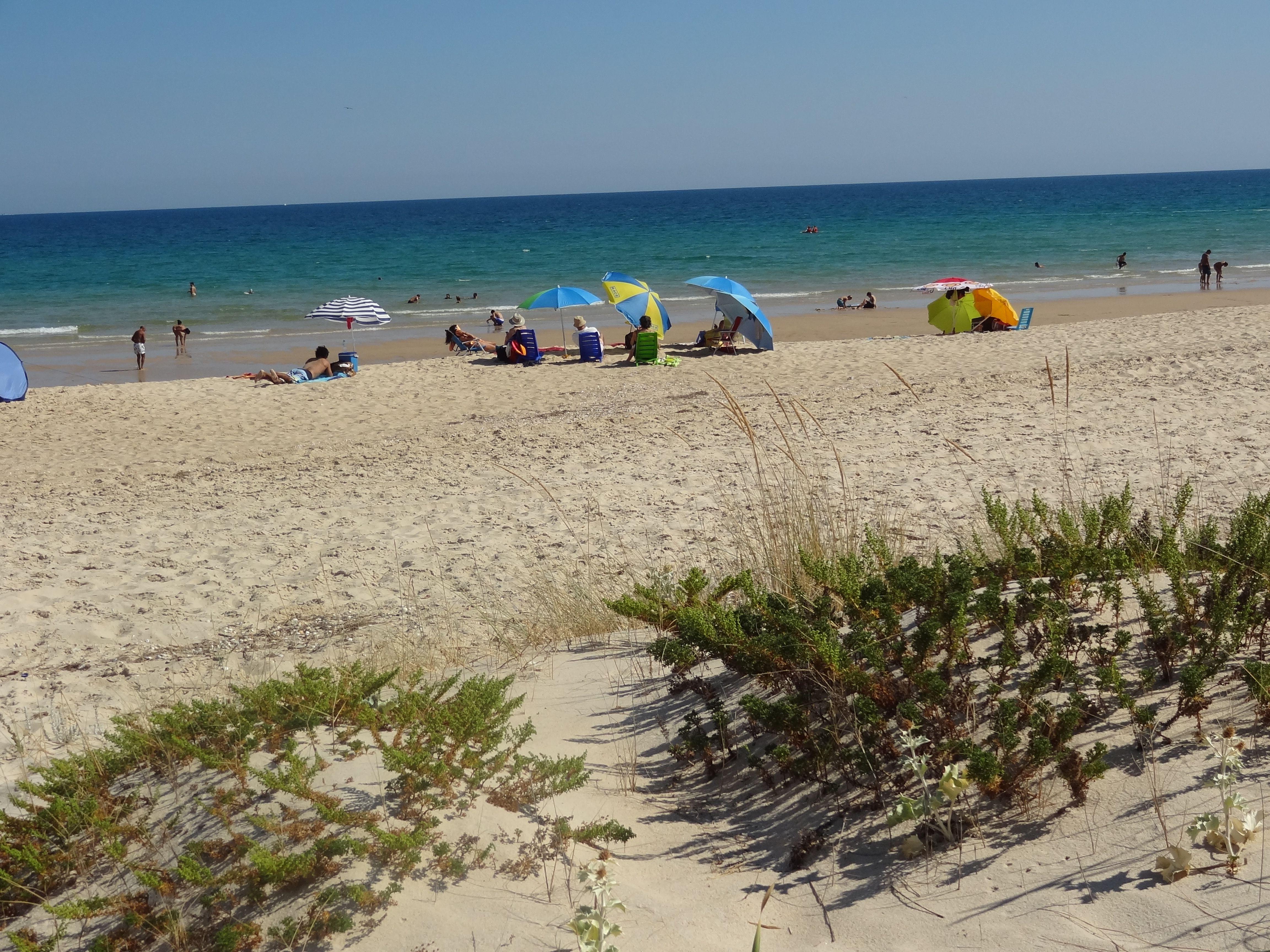 en la playa de Sta. Lucia ,Tavira