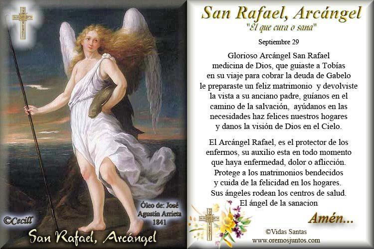 san rafael arcangel oracion - Buscar con Google