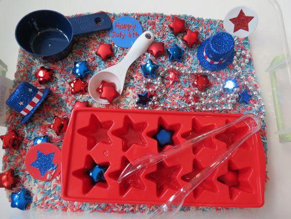 Fourth of July Sensory Box via Etsy