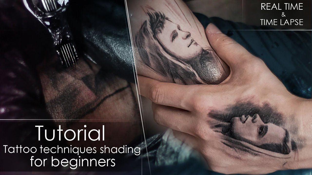 Tutorial How To Tattoo Techniques Shading For Beginners Real Time Lapse Portrait On Myself Howtot Tattoo Techniques Learn To Tattoo Tattoo Artist Tips