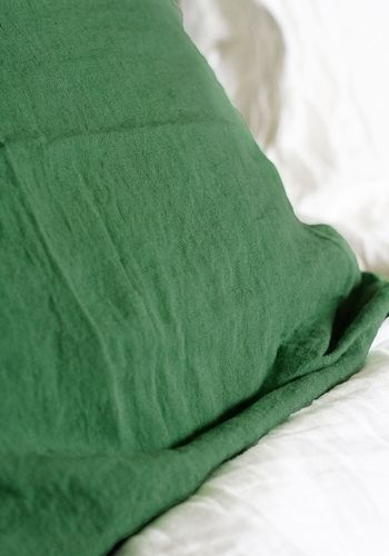 Soft linen pillow case 65 x 65cm - Green from www.bodieandfou.com