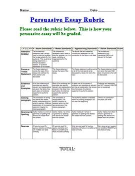 Thesis Persuasive Essay See Preview For Categories Word Searches Herethis Response English Essay Sample also Thesis For Essay Persuasive Essay Rubric Any Length  Rubrics  Pinterest  High School Entrance Essays