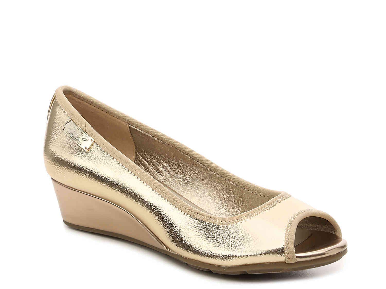 64aa00b5980 Anne Klein Sport Camryne Wedge Pump Women s Shoes