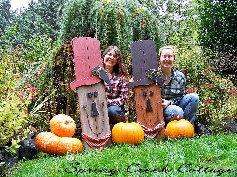 Primitive Scarecrow, Halloween, Fall Decor, Handpainted