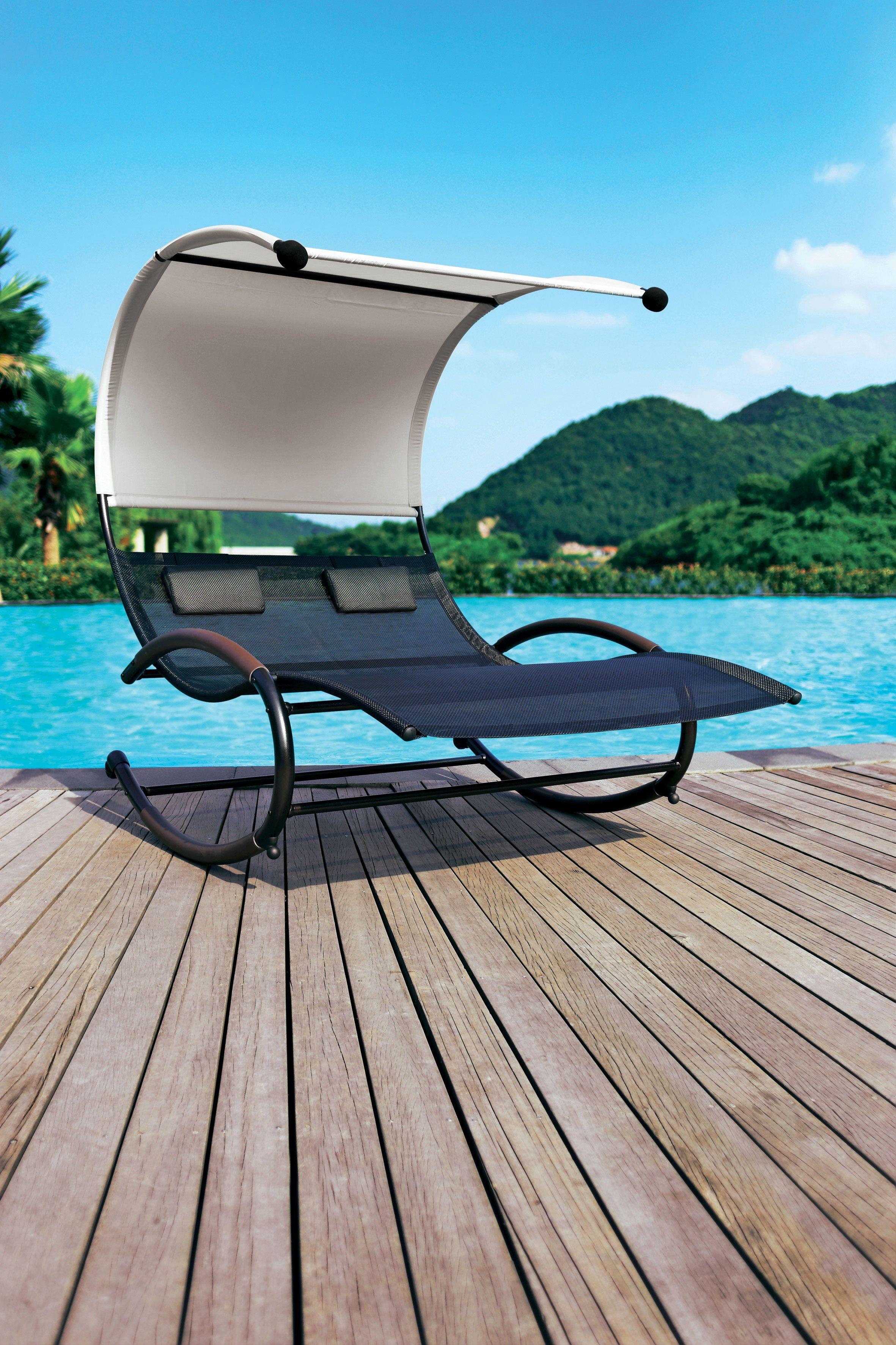 balancelle duo pour se relaxer au jardin vivre au. Black Bedroom Furniture Sets. Home Design Ideas