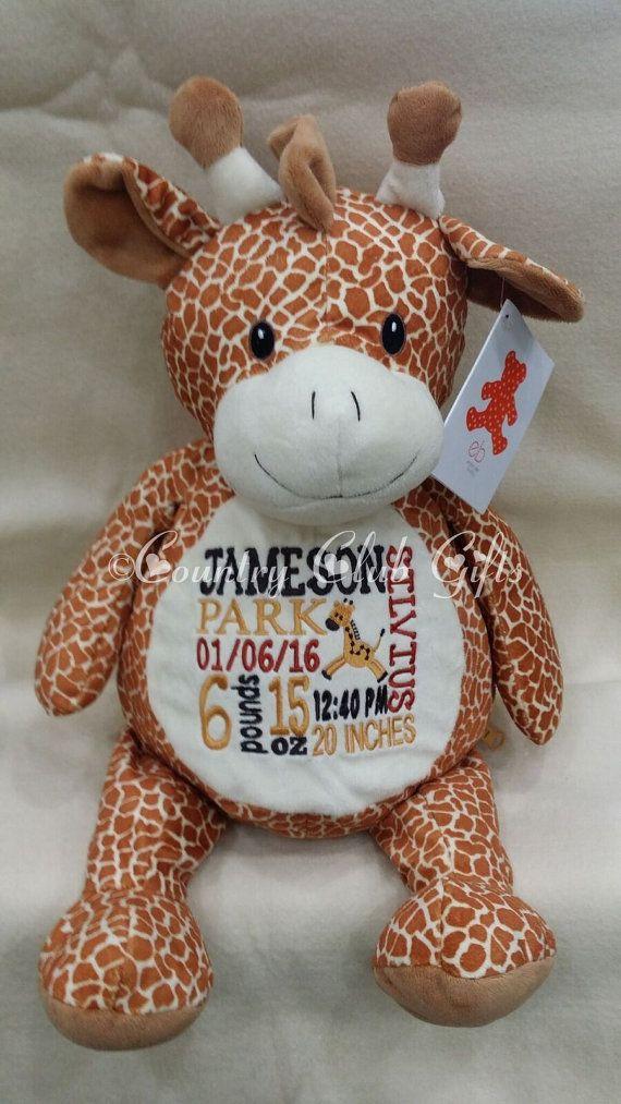 Personalized baby gift personalized plush birth announcement personalized baby gift personalized plush birth announcement baptism best baby gift ever plush stuffed animal giraffe keepsake su negle Gallery