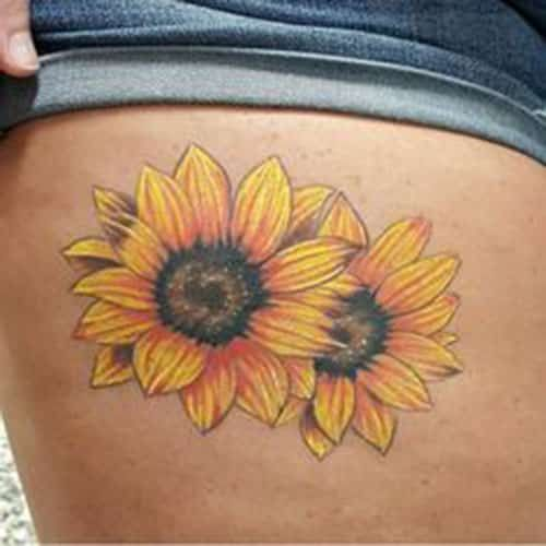 177910564 sunflower-tattoos-6. sunflower-tattoos-6 Sunflower Tattoo - 20 Unique and  Mysterious ...