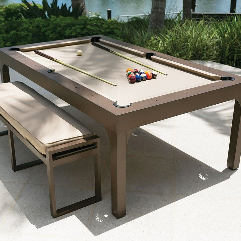 outdoor billiards dining table by hammacher schlemmer this is the rh pinterest com