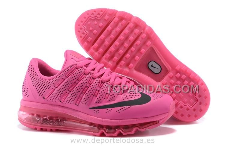Womens Nike Air Max 90 Trainers PinkWhiteBlue