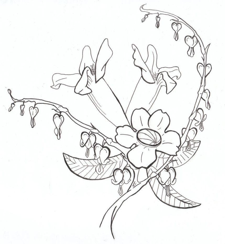 Bleeding Heart Flower Tattoo Designs Images Amp Pictures Becuo Flower Tattoo Designs Bleeding Heart Flower Heart Flower Tattoo