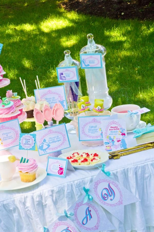 Whimsical Alice in Wonderland Garden Tea Party