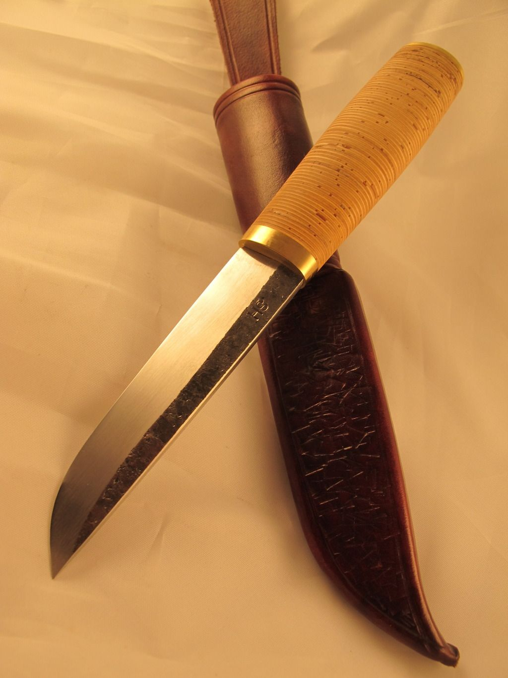 Sold The Puukko With Birch Bark And Silversteel