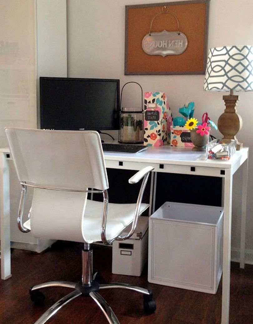 awesome white modern chair and work desk with file cabinets storage rh pinterest com