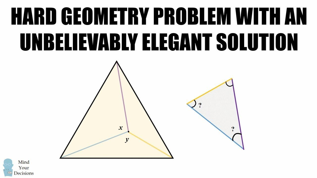 hard geometry problem with unbelievably elegant solution