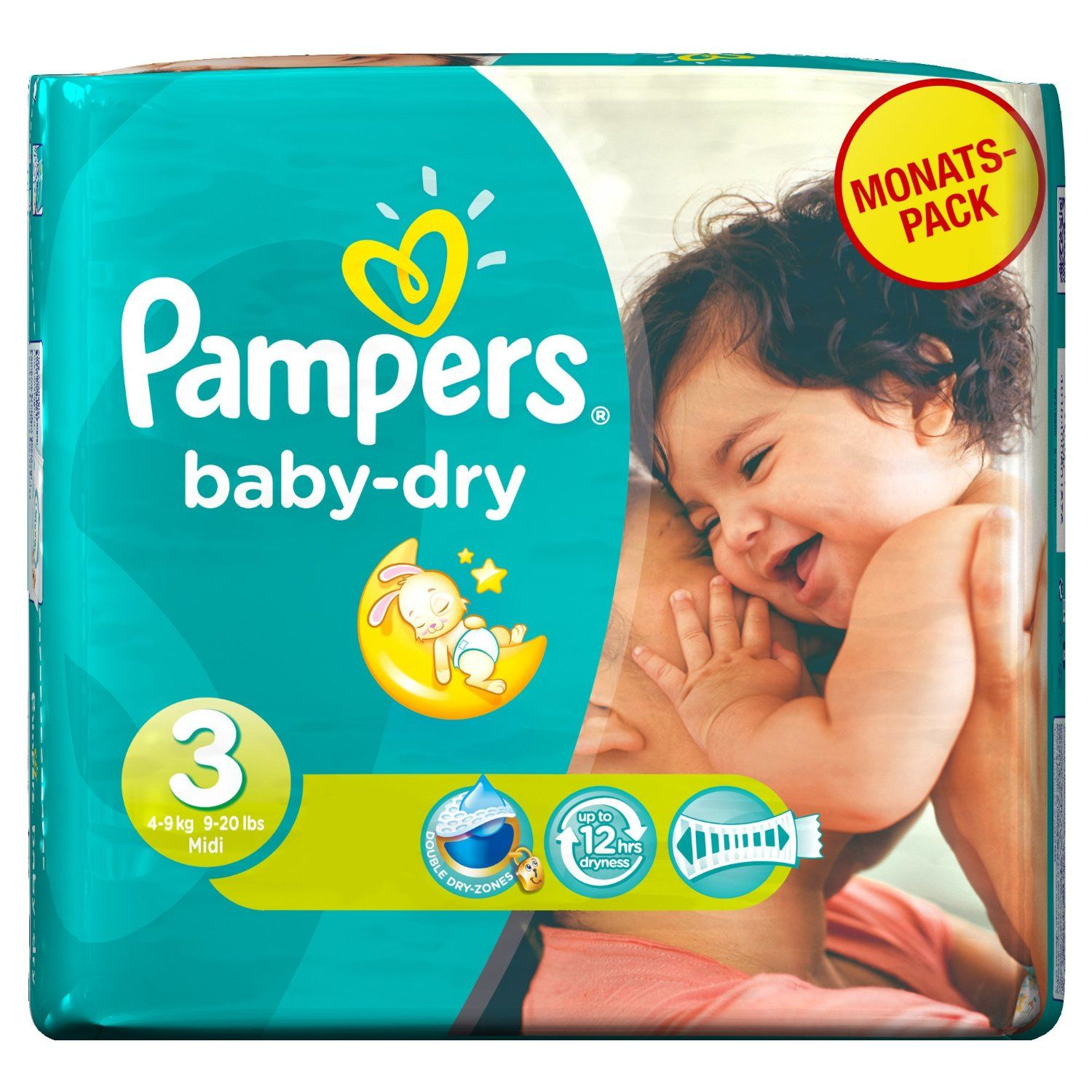 Bargain Pampers Baby Dry Midi Monthly Pack 198 Nappies 10p Per