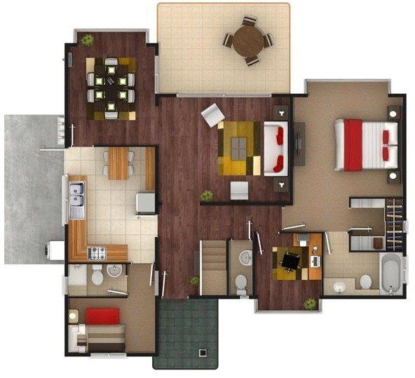 Planos de casas de dos pisos de 100 metros cuadrados for Piso 65 metros cuadrados