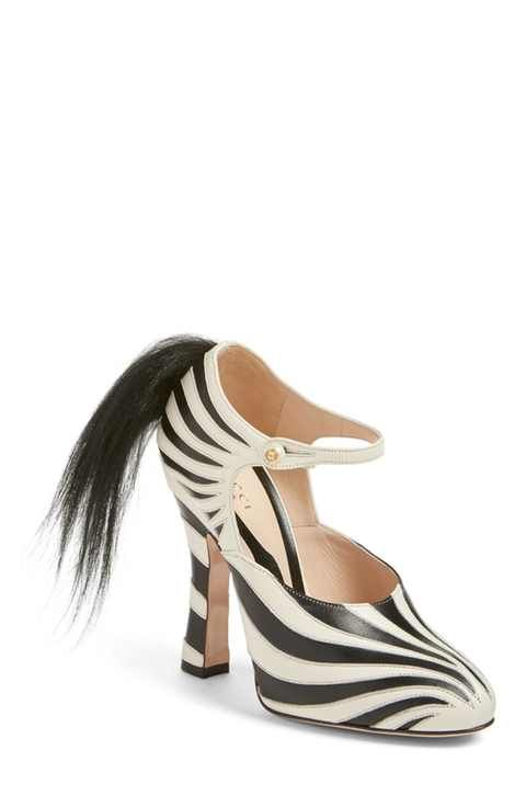 Gucci 'Lesley' Zebra Stripe Pump (Women)