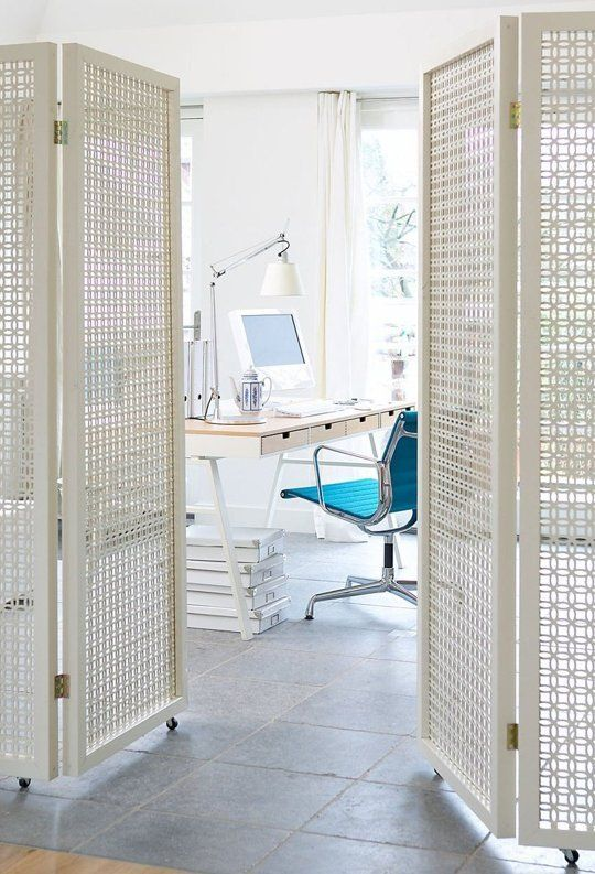 14 Ways To Divide A Room That Ll Make Your Space Feel Bigger Small Spaces Room Divider Screen Folding Screen Room Divider
