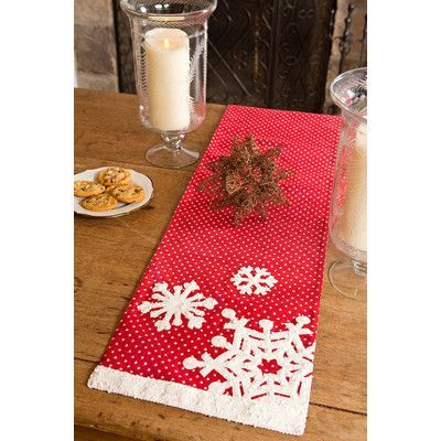 xia home fashions snowflake christmas table runner products rh pinterest pt