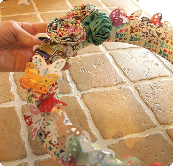 Butterfly Ribbon Wreath