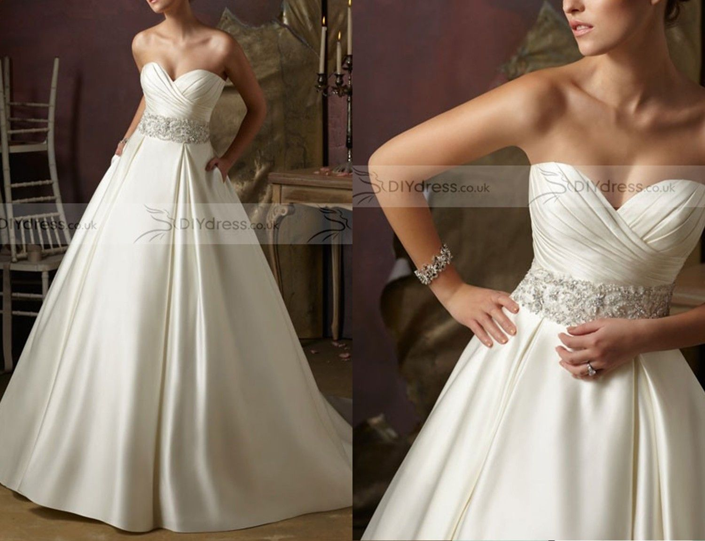 Satin Ball Gown Wedding Dress: Best 25+ Satin Wedding Gowns Ideas On Pinterest