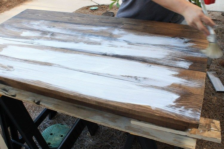 how to create a weathered wood gray finish distressed door rh pinterest com