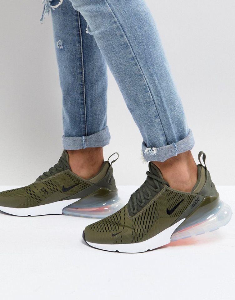 Buty Treningowe Meskie Nike Air Max 270 Yv388619 Zielony Buty Treningowe Nike Meskie Nike Training Shoes Air Max 270 Nike Air Max