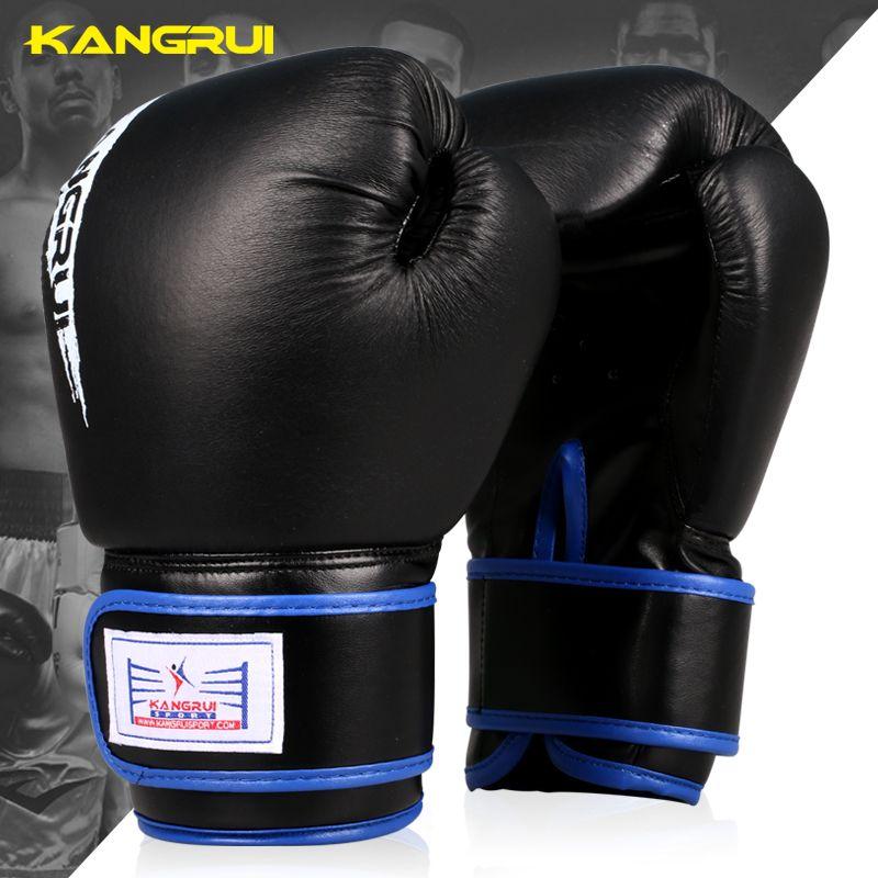 b75aa5265 10OZ Male Female Genuine leather Boxing Gloves Sanda Kungfu karate Women  Men Fighting Sandbag Training luvas guantes de boxeo