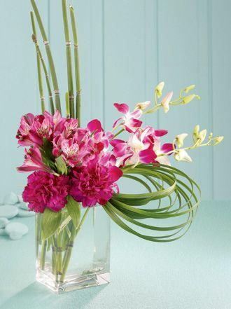 contemporary glass flower arrangement google search flowers rh pinterest com