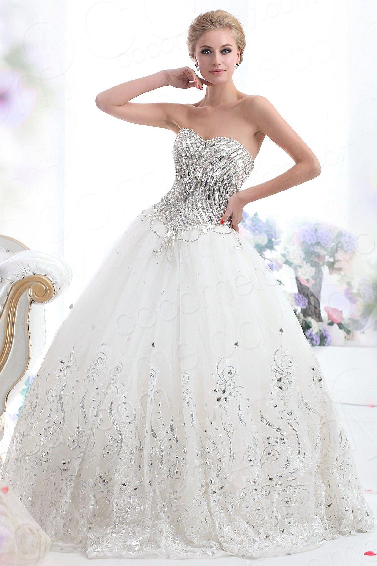 Fairy-tale Ball Gown Sweetheart Basque Waist Floor Length Tulle ...