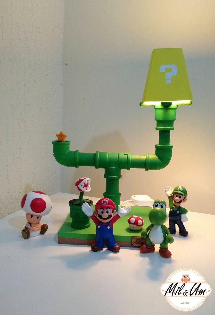 Luminaria Mario 1 Mario Room Geek Decor Small Room Diy