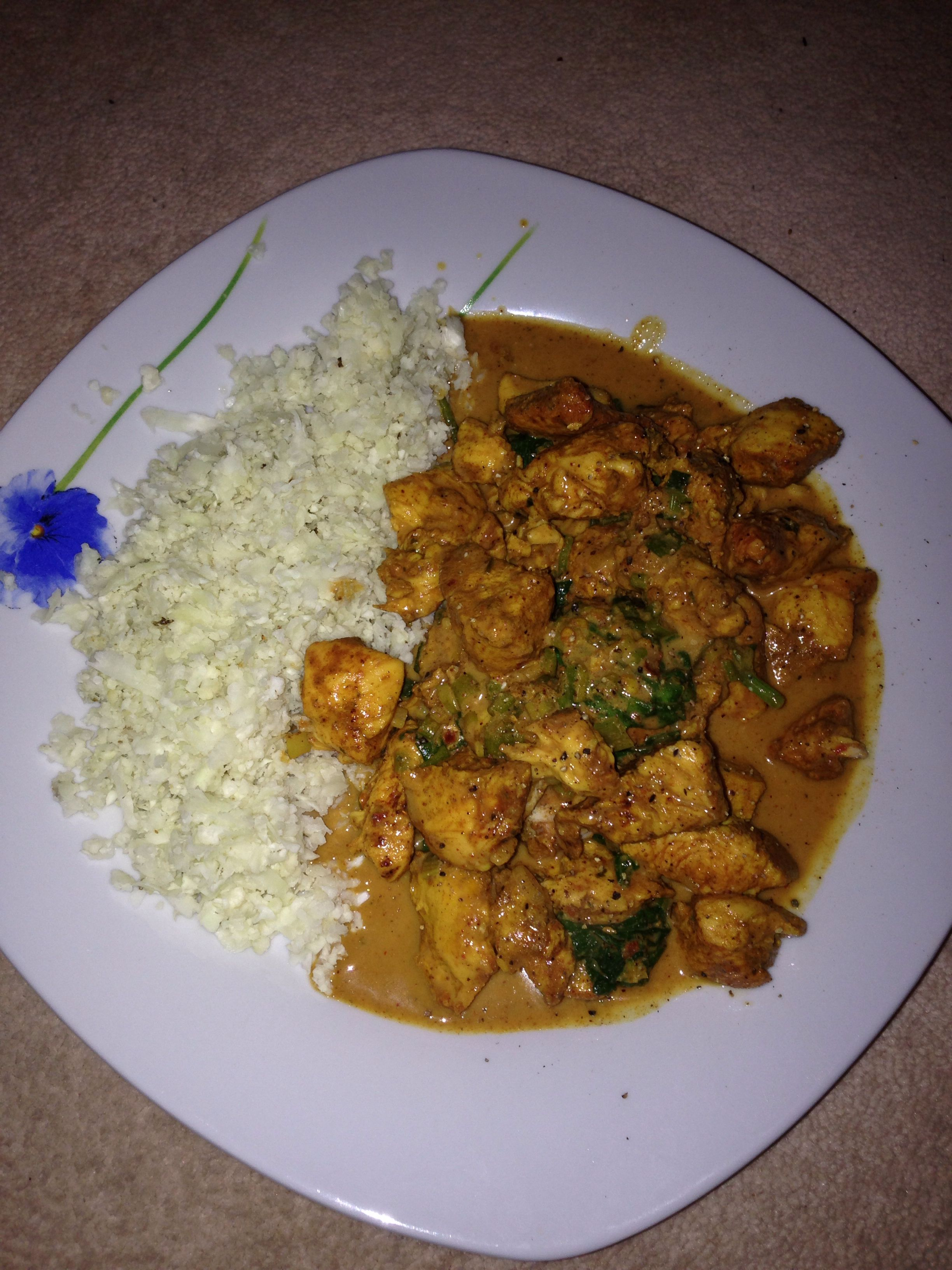 Chicken Curry And Cauliflower Rice Step 2 Carb Free Recipes