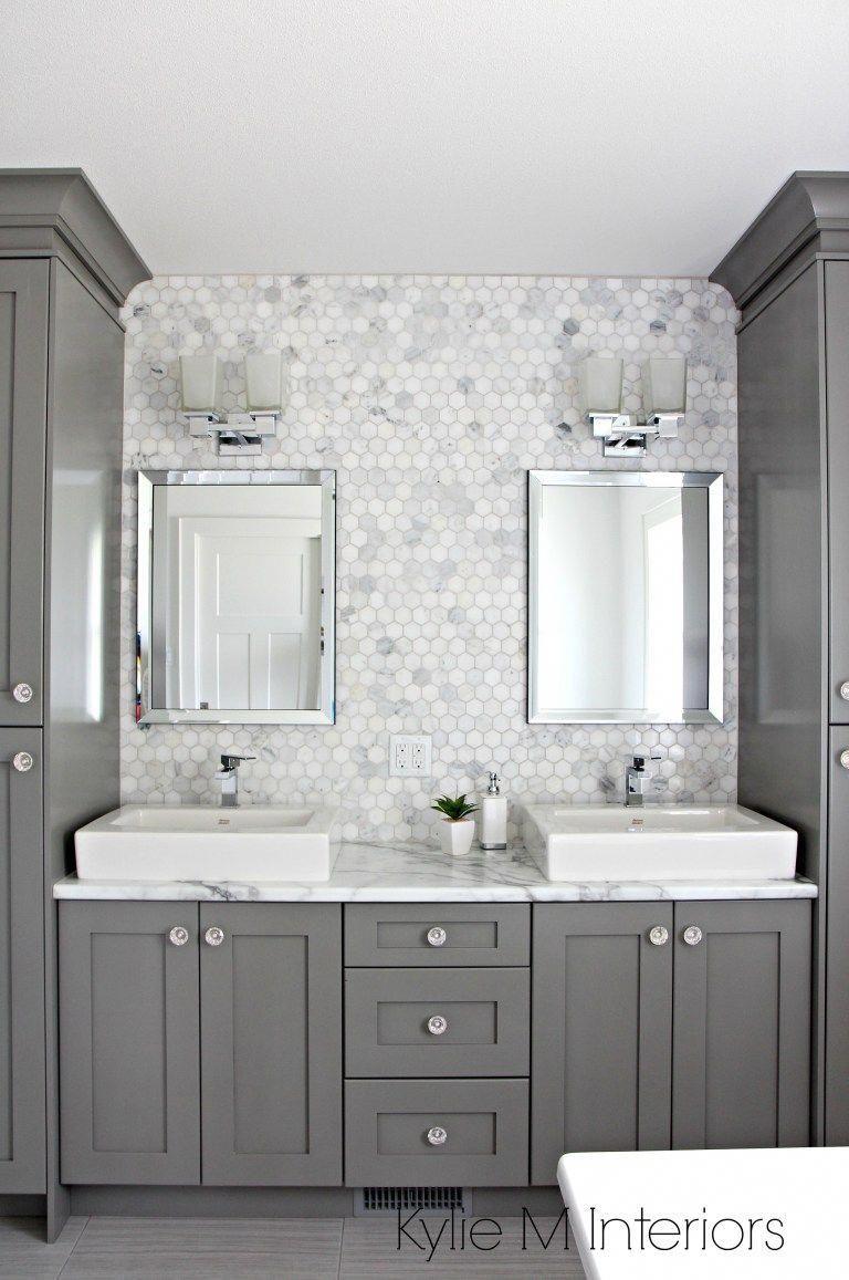 double vanity in bathroom painted benjamin moore chelsea gray rh pinterest com