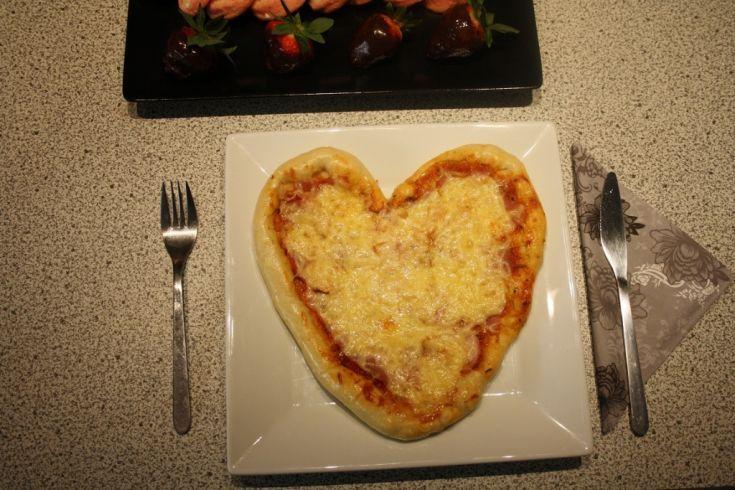 Fotorecept: Valentínska pizza