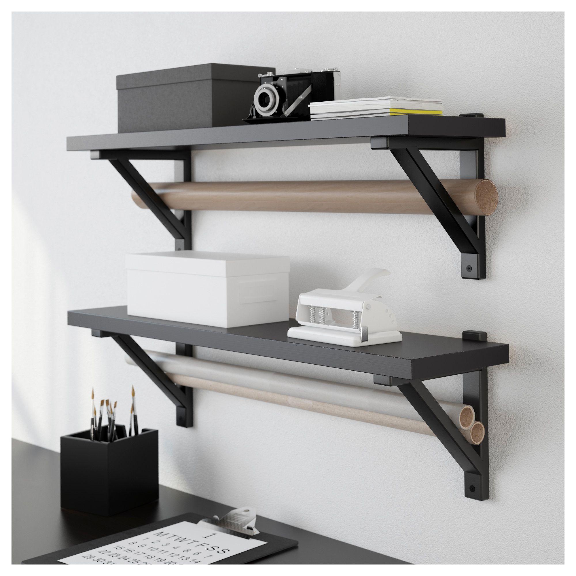 ekby j rpen ekby valter wall shelf black brown black in 2019 rh pinterest com
