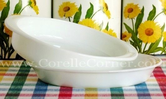 Plain White Opal Pyrex 221 Cake Pan 209 Pie Plate Pyrex Pyrex Patterns Pyrex Vintage