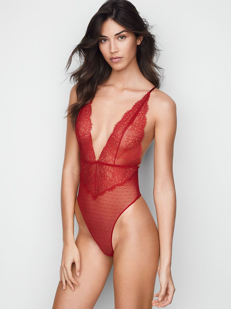 a2a25123c48 Chantilly Lace Plunge Teddy - Very Sexy - Victoria s Secret ...