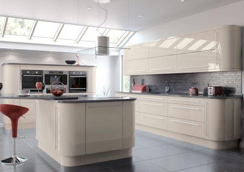 High Gloss Kitchen Cabinets, Gray Cashmere Kitchen Cabinets