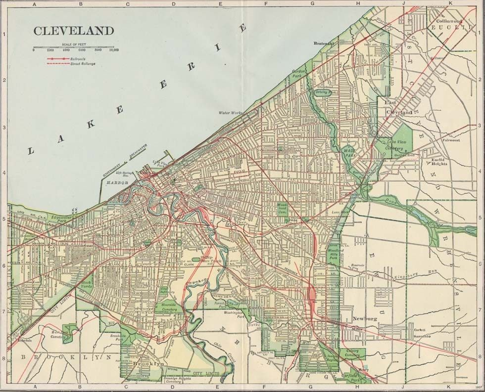 on cleveland oh map