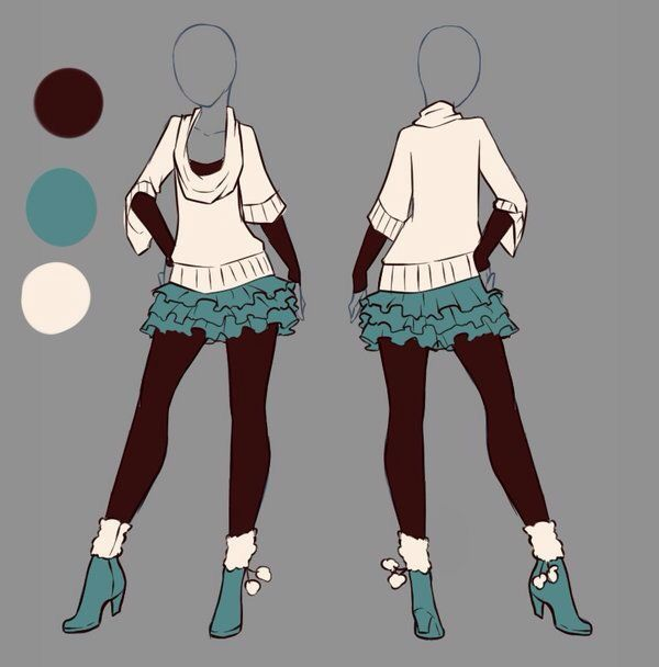 Casual Anime Outfits Manga Clothes Drawing Clothes