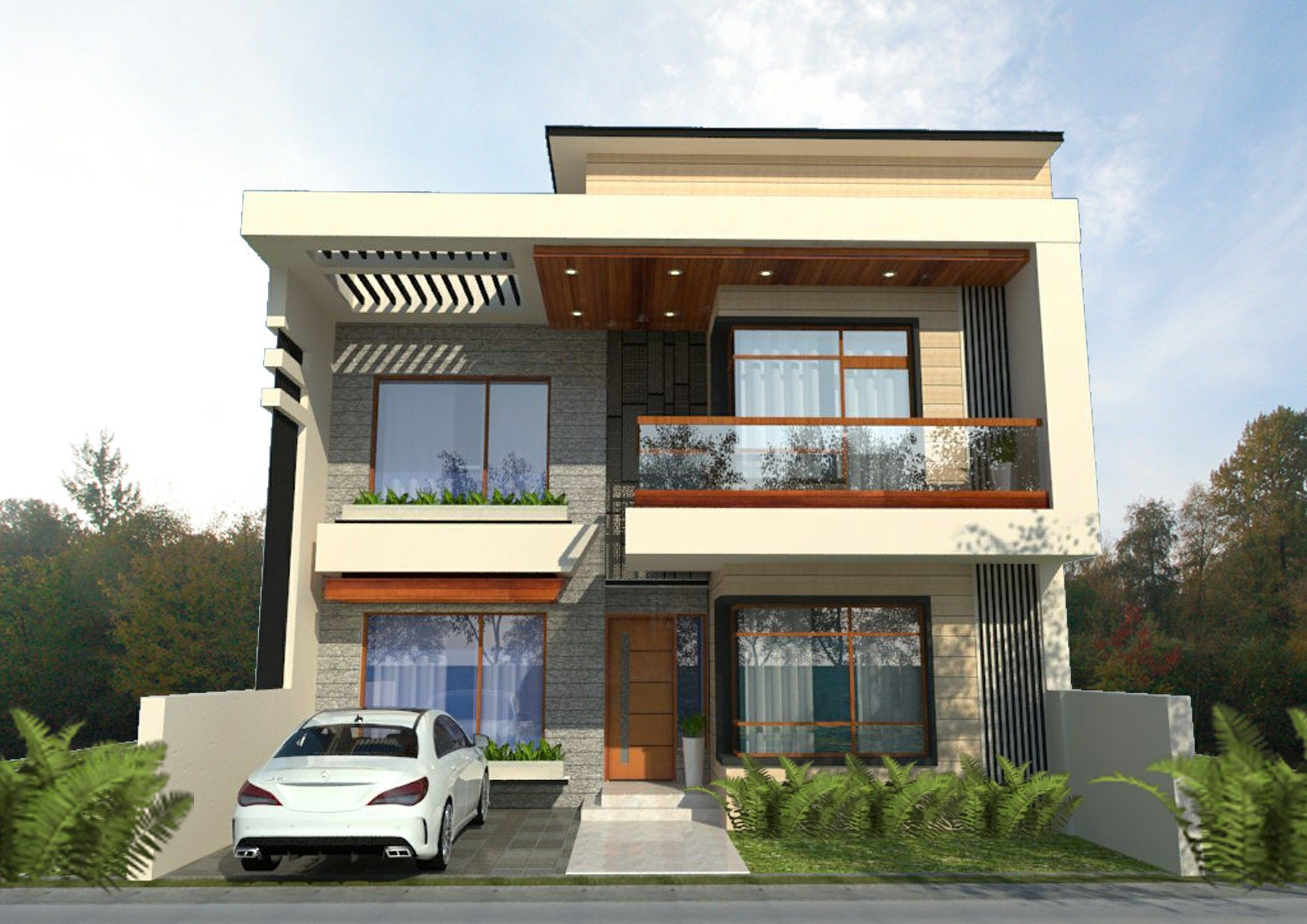 Residence Karnal House Styles Small Buildings Modern House