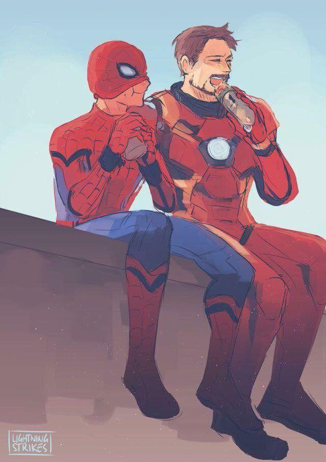 fanart #spiderman #ironman   Marvel/DC   Marvel avengers