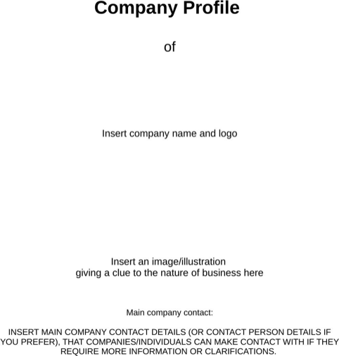 Business Company Profile Template company profile – Sample of a Company Profile Format