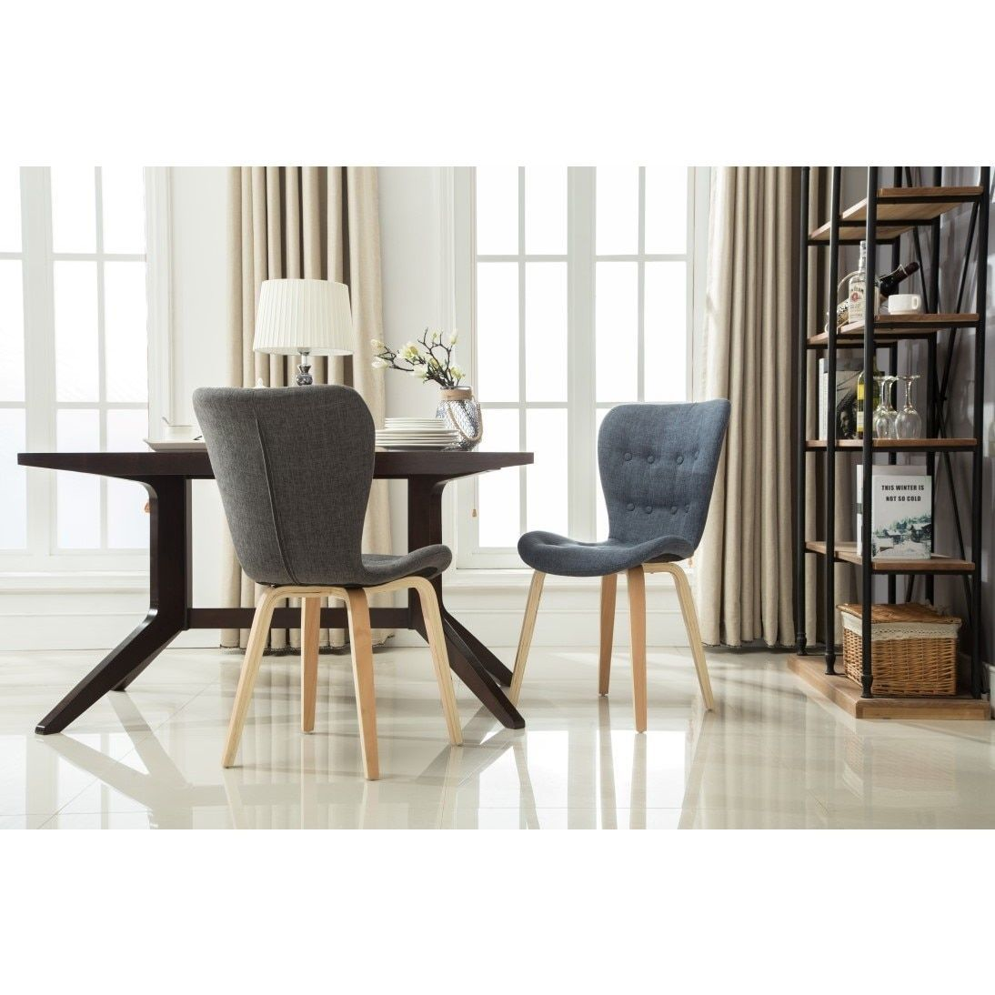 Porthos Home Sioux Dining Chair (Set of 2) (Grey - Grey Finish ...