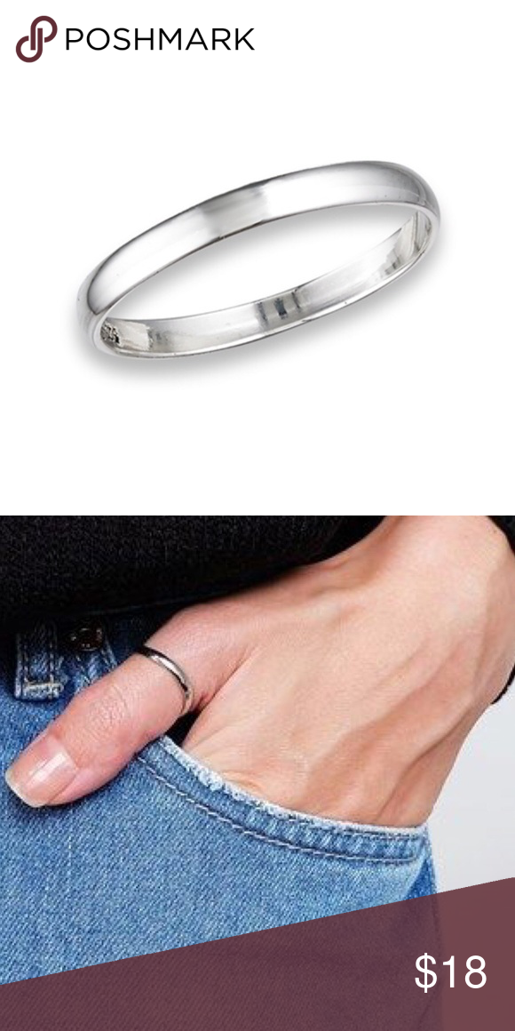 925 Silver 2.5mm Classic Wedding Band Ring