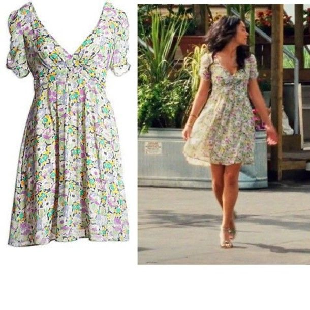 dress floral flowers summer vanessa hudgens gabriella ... Gabriella Montez High School Musical 3 Outfits