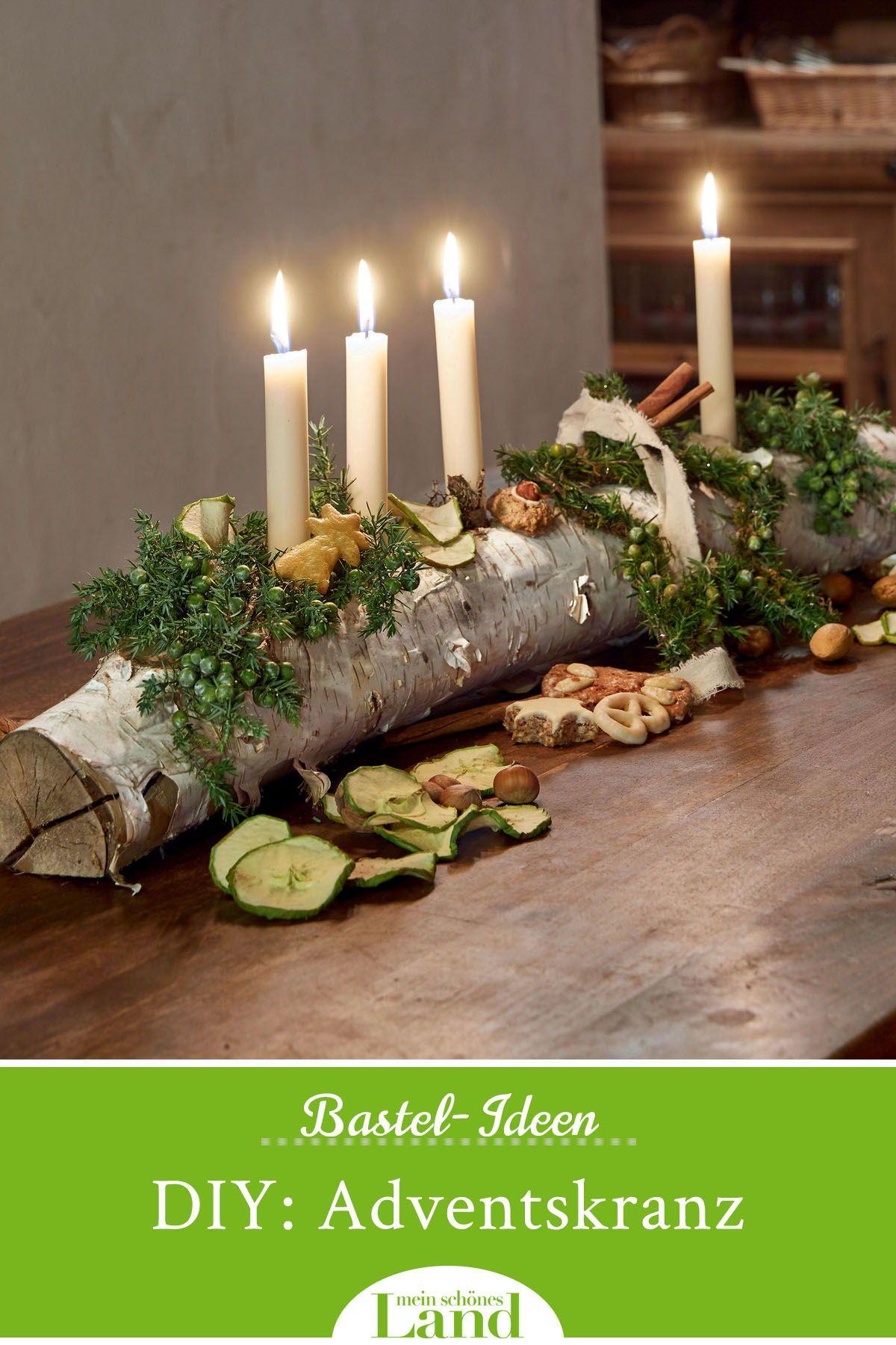 Adventskranz selber basteln – 7 natürliche Ideen #rustikaleweihnachtentischdeko